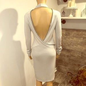 Religion London dress open back with silver beads